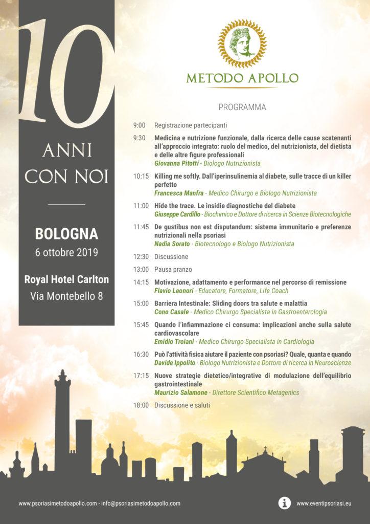 locandina convegno Metodo Apollo - Bologna 2019